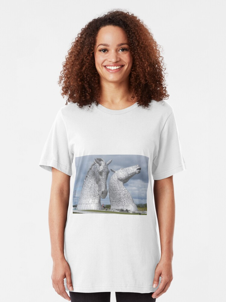Alternate view of The Kelpies gifts , Helix Park, Scotland Slim Fit T-Shirt