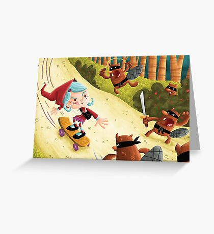 Red's Forest Delivery Service Greeting Card