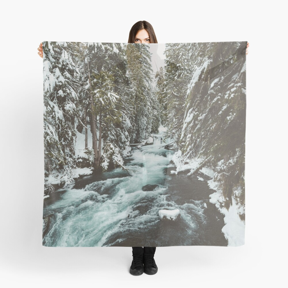 The Wild McKenzie River Adventure II - Pacific Northwest Nature Photography Scarf