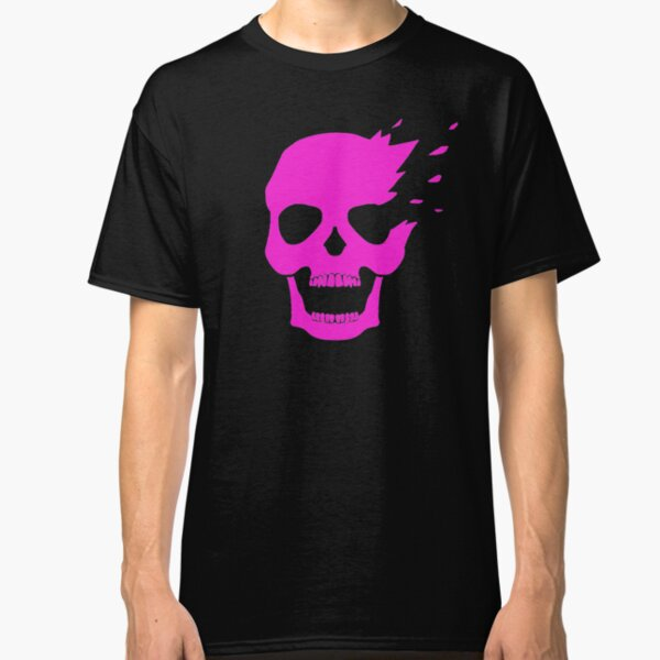 Pink skull side explosion Classic T-Shirt