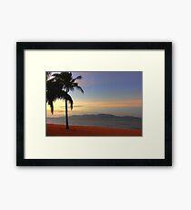 Strand Sunset-HDR Framed Print