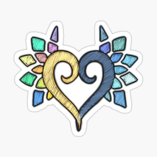 Combined Hearts (White) Sticker