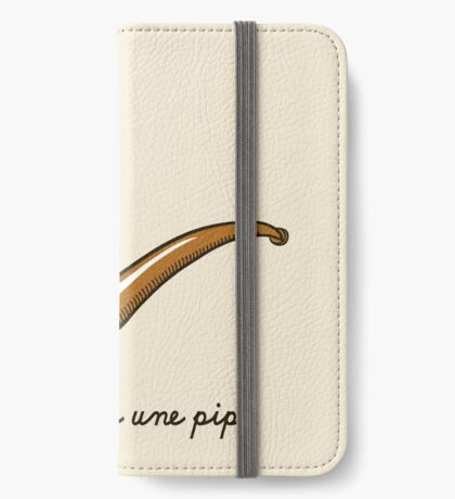 This is Not a Pipe iPhone Wallet