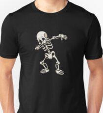 Tupfendes menschliches Skelett-Geschenk für Halloween Slim Fit T-Shirt
