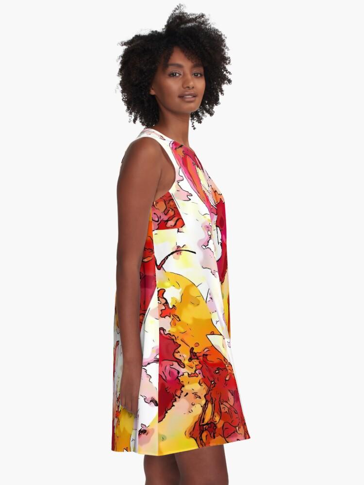 Alternate view of Red Violin A-Line Dress