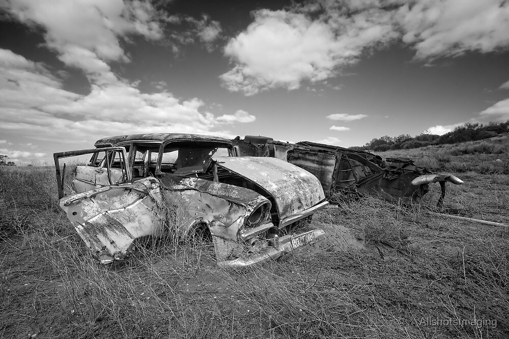 Car Graveyard - Morgan, SA by AllshotsImaging