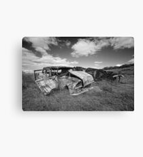Car Graveyard - Morgan, SA Canvas Print