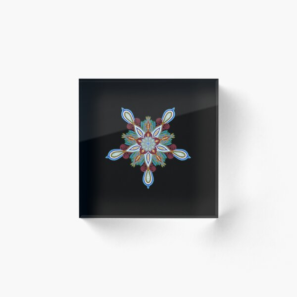 Lotus Flower Mandala Acrylic Block