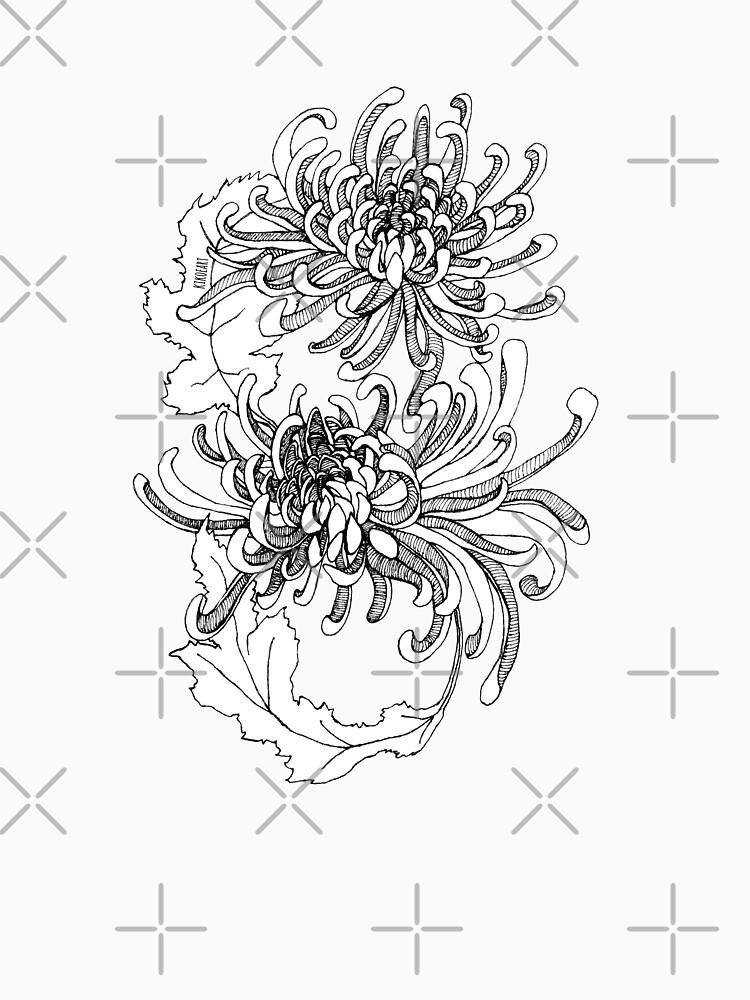Infinity Chrysanthemum - Detailed Ink design by kikoeart