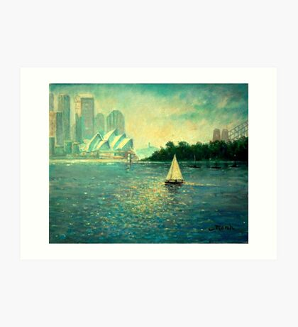 Into the Light - Sydney Harbour  Art Print