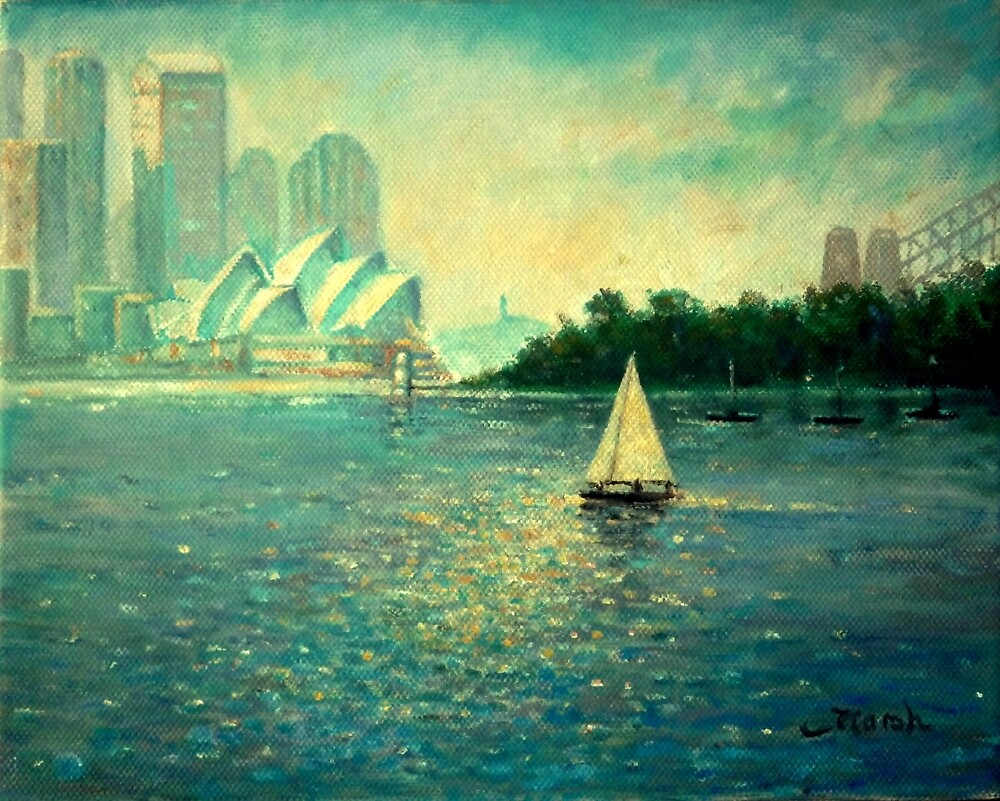 Into the Light - Sydney Harbour  by Fred Marsh