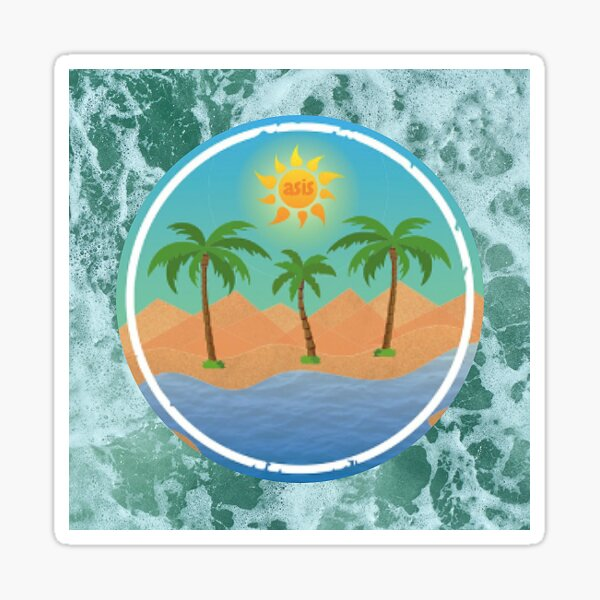 Water Oasis iOS Logo Sticker