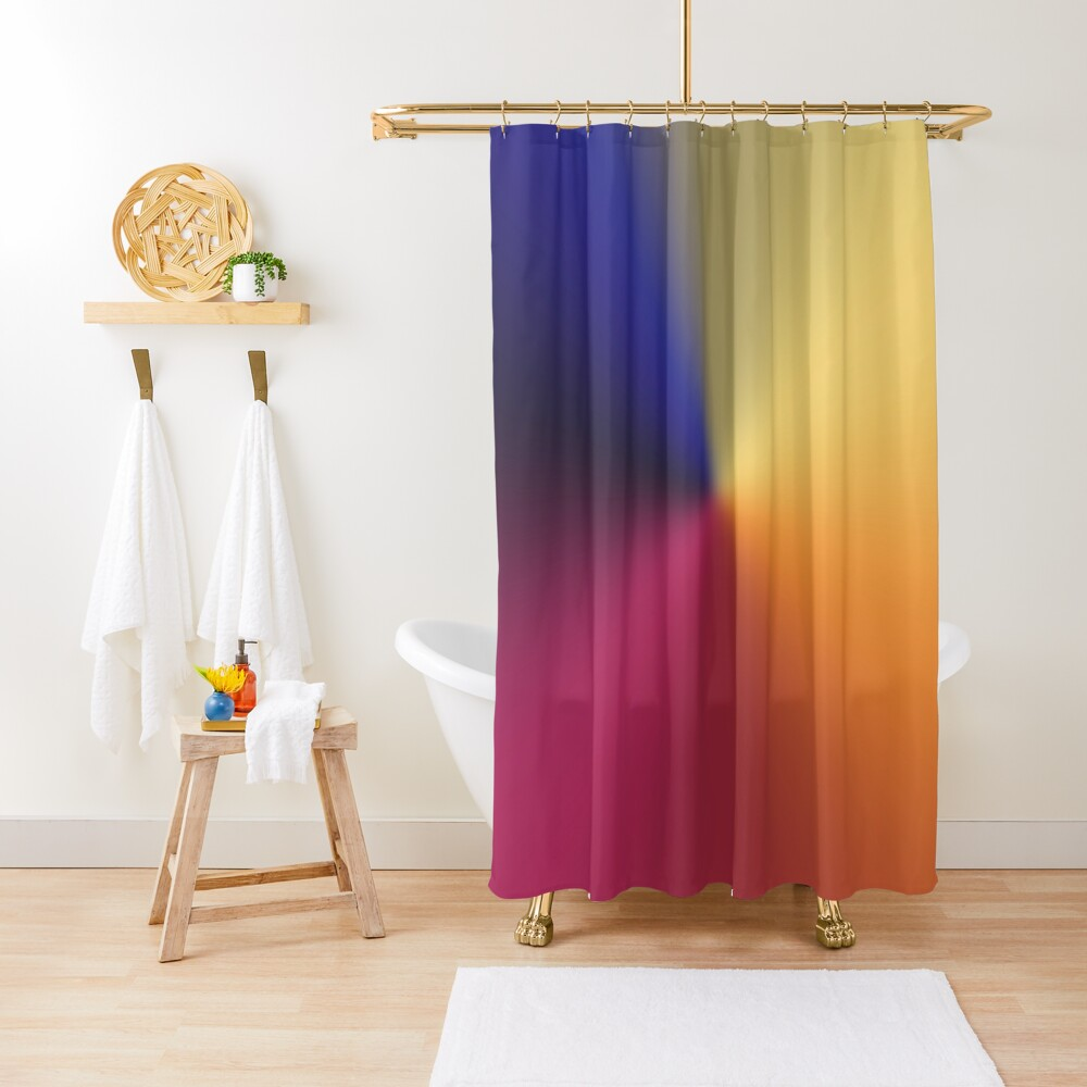 Angle Gradient Shower Curtain