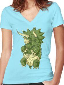 babysaurus Women's Fitted V-Neck T-Shirt