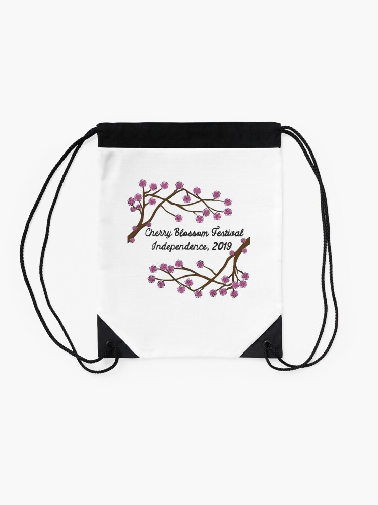 Alternate view of Cherry Blossom Fest 2019 Drawstring Bag