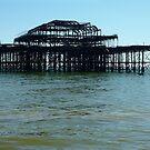 Skeleton of West Pier, Brighton by rightonian