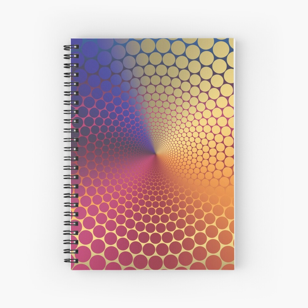 Optical Illusion Angle Gradient on Linear Gradient Spiral Notebook