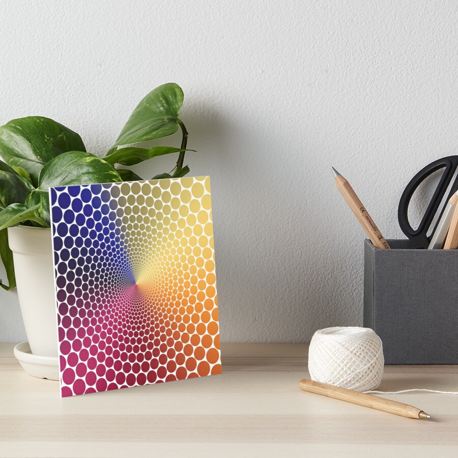 Optical Illusion Angle Gradient on White Art Board Print