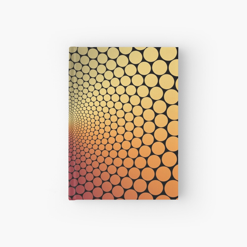 Optical Illusion Angle Gradient on Black Hardcover Journal