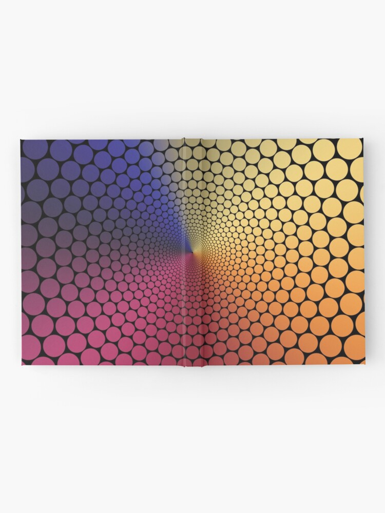 Alternate view of Optical Illusion Angle Gradient on Black Hardcover Journal