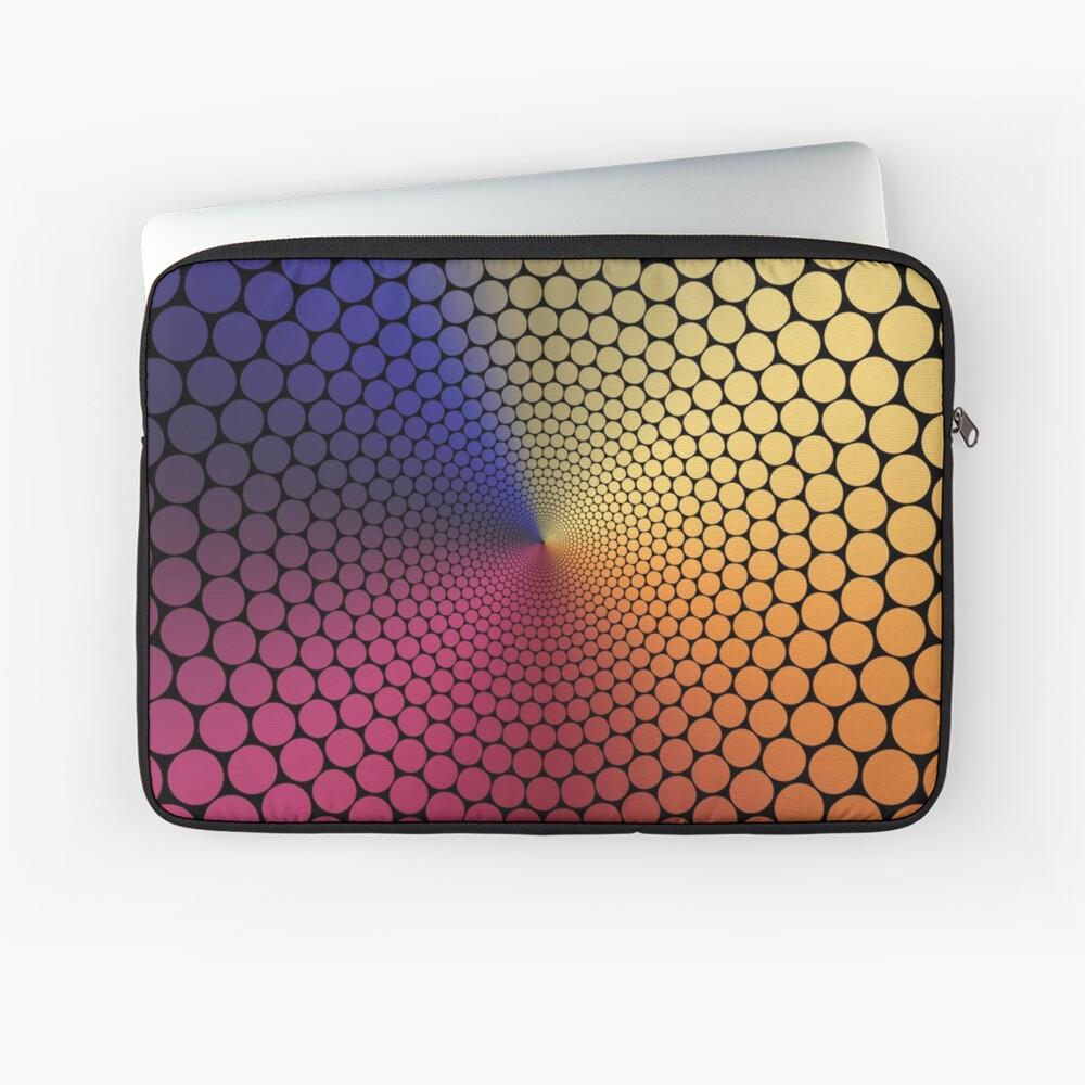 Optical Illusion Angle Gradient on Black Laptop Sleeve