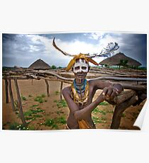Hammer Woman, Omo Valley Poster