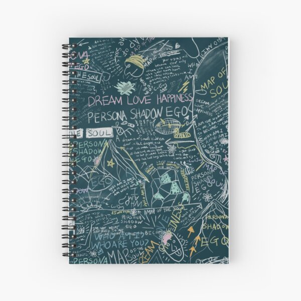 BTS PERSONA Map of the Soul RM Chalkboard Graphic Spiral Notebook