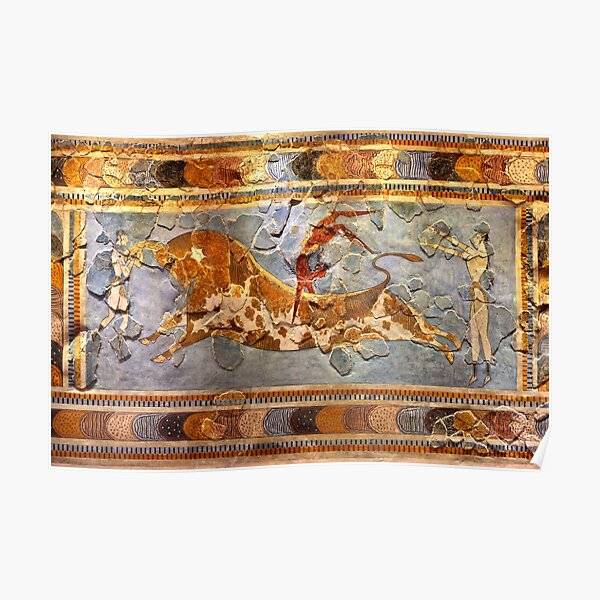 Minoan Times - Dancing with the bulls Poster