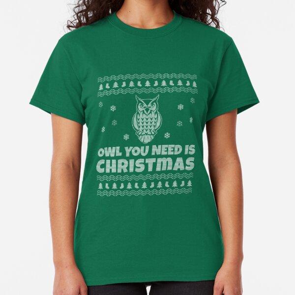 Owl Christmas Tree Owl Lovers Noel Gifts Ugly Xmas Sweater Sweatshirt