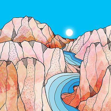 Ein Strom durch die Berge von steveswade