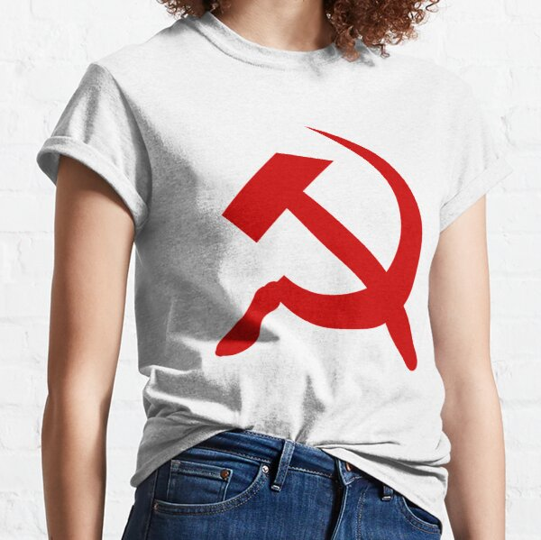 A #red #hammer and #sickle, in the shape it appeared (in gold) on the #Soviet Unions flag from 1955 to 1991 Classic T-Shirt