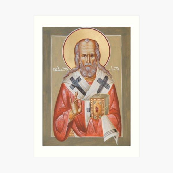 St Milos (Miles) of Susa Art Print