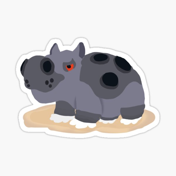 Female Hippowdon Sticker