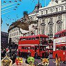 «Escena de autobús de Londres - (Bigheads)» de JoelCortez