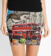 London Bus Scene - (Bigheads) Mini Skirt