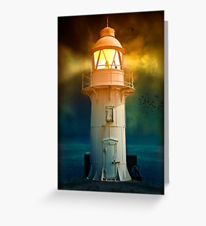 At the Lighthouse Greeting Card