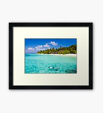 Snorkelling in the Maldivian Atolls - Indian Ocean Framed Print