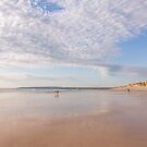Framed by the clouds at Westward Ho! beach in North Devon, UK by Zoe Power