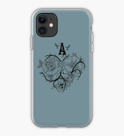 Ace of Hearts Flowers iPhone Case