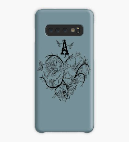 Ace of Hearts Flowers Case/Skin for Samsung Galaxy