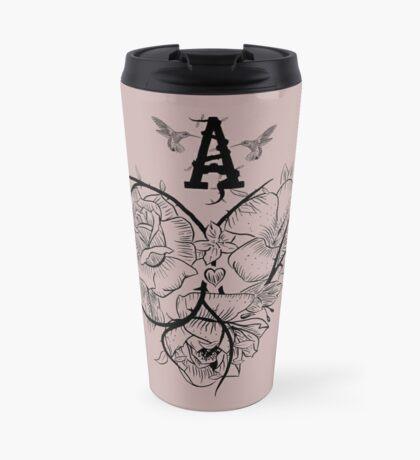 Ace of Hearts Flowers Travel Mug