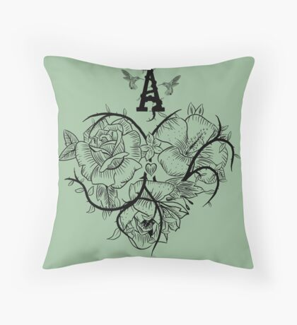 Ace of Hearts Flowers Floor Pillow