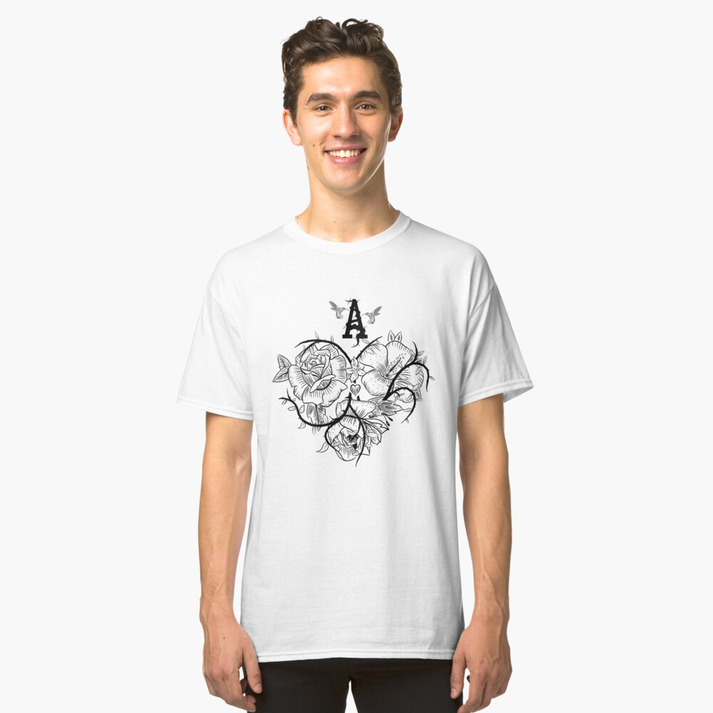 Ace of Hearts Flowers Classic T-Shirt