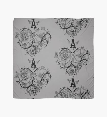 Ace of Hearts Flowers Scarf