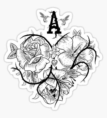 Ace of Hearts Flowers Sticker