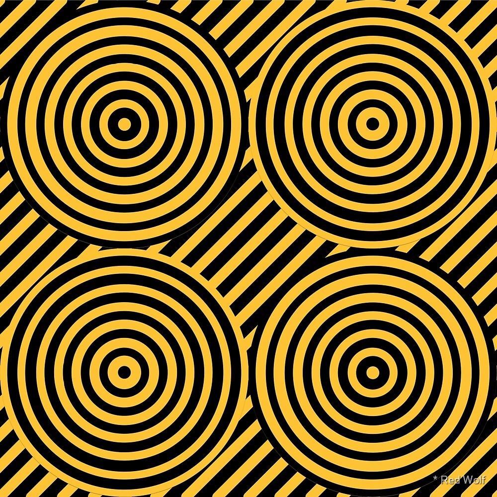 Geometric Pattern: Circle Strobe: Yellow/Black by * Red Wolf