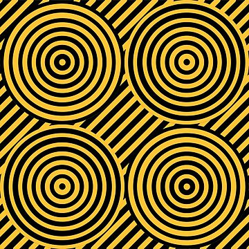 Geometric Pattern: Circle Strobe: Yellow/Black by redwolfoz