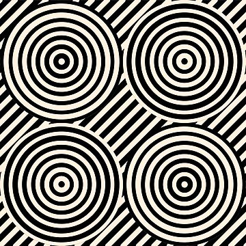 Geometric Pattern: Circle Strobe: Black/Cream by redwolfoz
