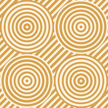 Geometric Pattern: Circle Strobe: Gold/Cream by redwolfoz
