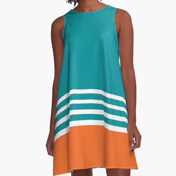 Miami Dolphins Football Fans Florida Sports A-Line Dress